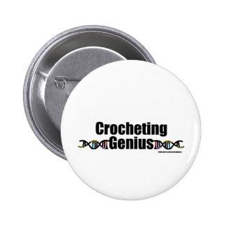 Crocheting Genius DNA Merchandise Pinback Buttons