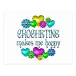 Crocheting Happiness Postcard