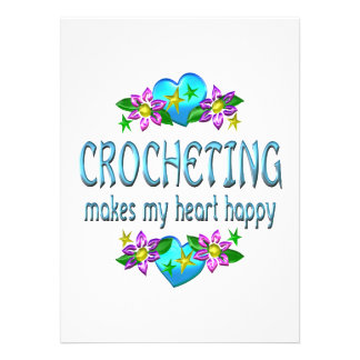 Crocheting Heart Happy Invitations