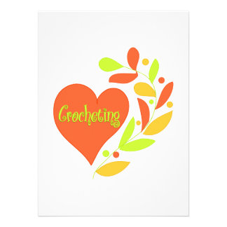 Crocheting Heart Personalized Invitations