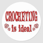 Crocheting is Ideal Classic Round Sticker