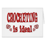 Crocheting is Ideal Greeting Card