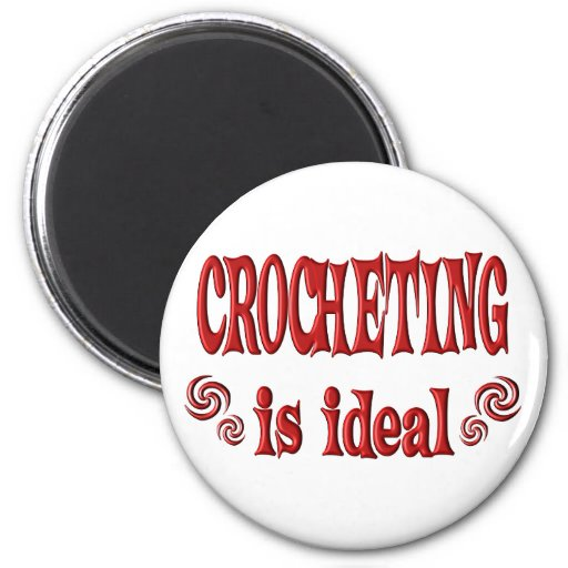 Crocheting is Ideal Refrigerator Magnet