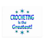 Crocheting is the Greatest Postcard
