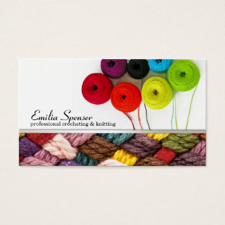 Crocheting & Knitting Colorful Business Card