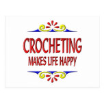 Crocheting Makes Life Happy Postcard