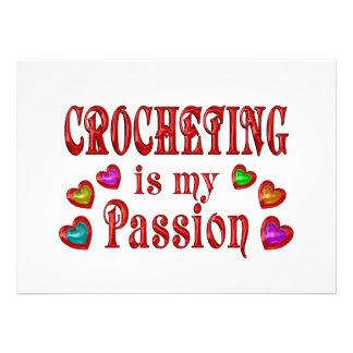 Crocheting Passion Custom Invitations