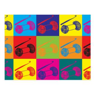 Crocheting Pop Art Postcard