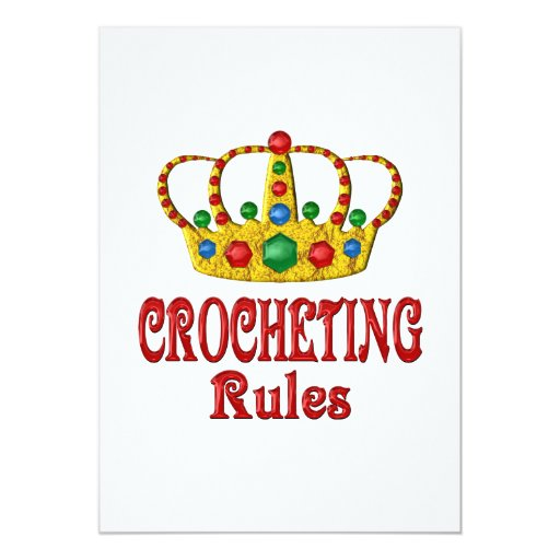 CROCHETING RULES CARD