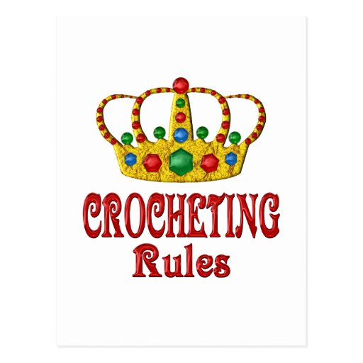 CROCHETING RULES POST CARDS