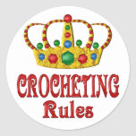 CROCHETING RULES STICKER