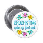 Crocheting Smiles Button