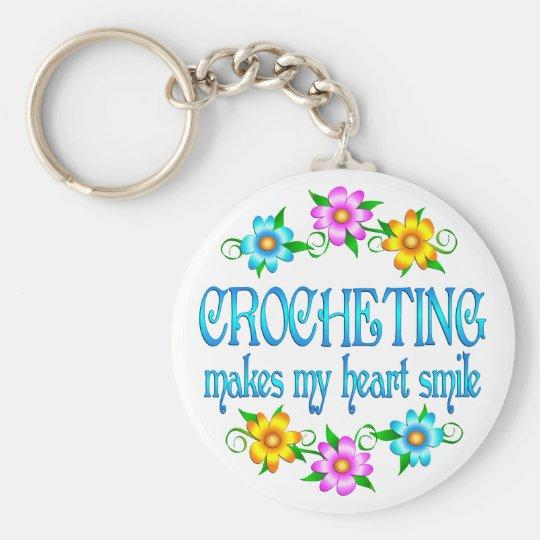 Crocheting Smiles Keychain