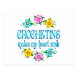 Crocheting Smiles Postcard
