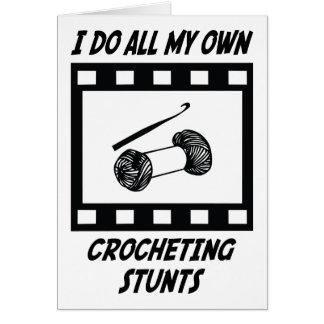 Crocheting Stunts Greeting Card