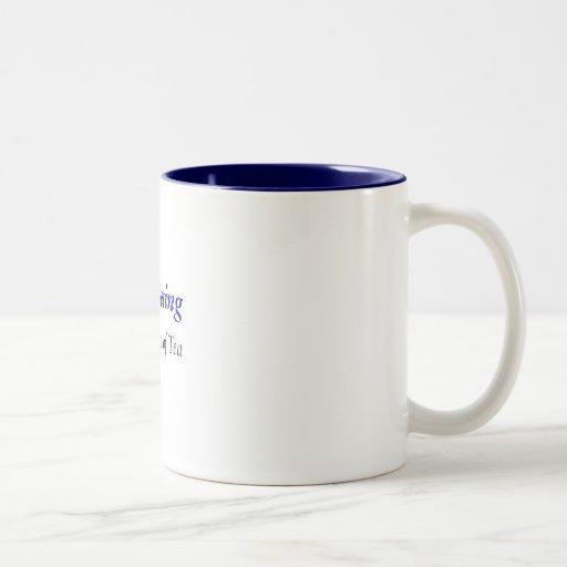 Crocheting Two-Tone Coffee Mug