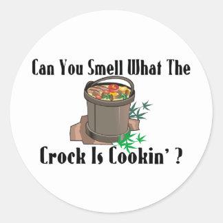 Crock Is Cookin Classic Round Sticker
