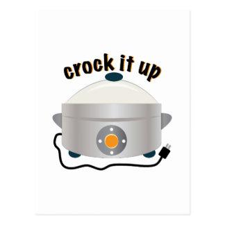 Crock it Up Postcard