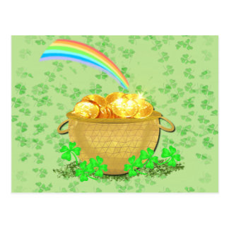 Crock 'O Gold Postcard