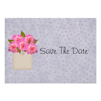 Crock Of Peonies Save The Date Custom Invitations