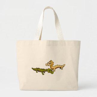 Crocka and Sfinks Large Tote Bag