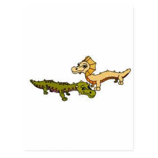 Crocka y Sfinks Tarjeta Postal