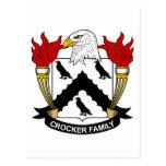 Crocker Family Crest Post Card
