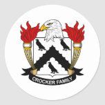 Crocker Family Crest Stickers