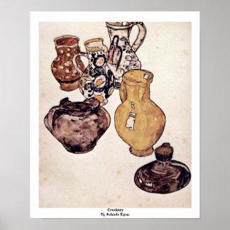 Crockery By Schiele Egon Posters
