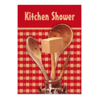 Crockery Kitchen Shower Invitations