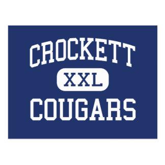 Crockett Cougars Middle Hamilton New Jersey Postcard