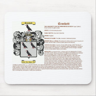 crockett (meaning) mouse pad