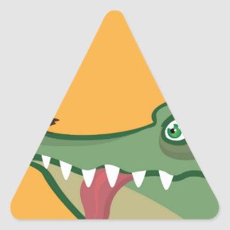 CrockFrog Triangle Sticker