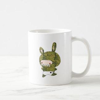 crockobunny classic white coffee mug