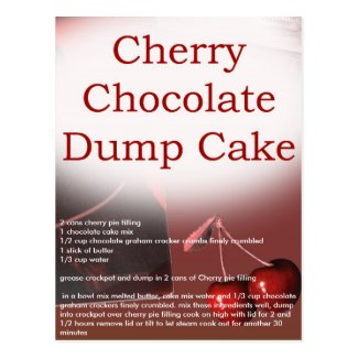 crockpot chocolate cherry dump cake