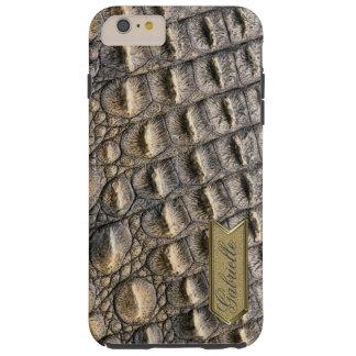Crocodil Skin Custom Monogram Template Tough iPhone 6 Plus Case