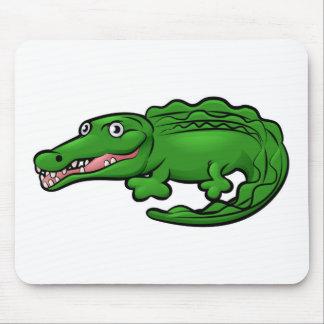 Crocodile Alligator Animal Cartoon Character Mouse Pad