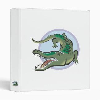 Crocodile/Alligator Circle Design 3 Ring Binder
