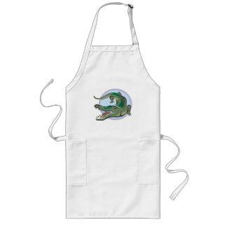 Crocodile/Alligator Circle Design Aprons