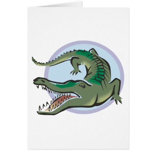 Crocodile/Alligator Circle Design Card