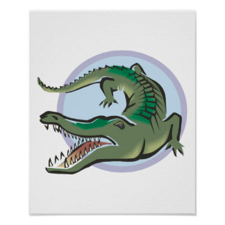 Crocodile/Alligator Circle Design Poster