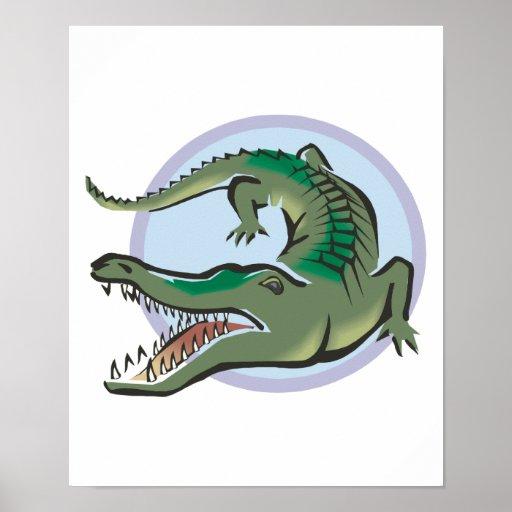 Crocodile/Alligator Circle Design Poster