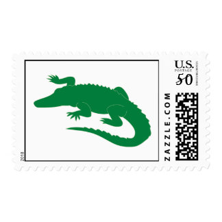 Crocodile Alligator Gator Green Cartoon Animal Postage