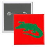 Crocodile Alligator Gator Reptile 2 Inch Square Button
