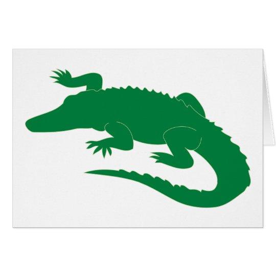 Crocodile Alligator Gator Reptile Card