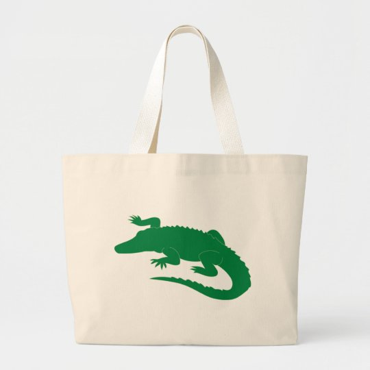 Crocodile Alligator Gator Reptile Large Tote Bag