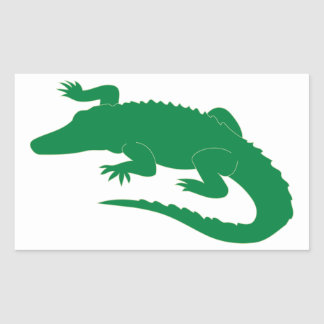 Crocodile Alligator Gator Reptile Rectangular Sticker