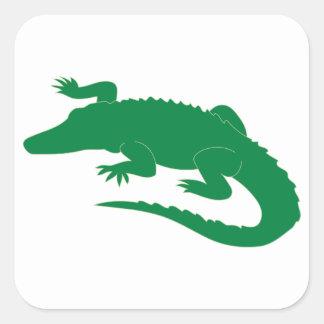 Crocodile Alligator Gator Reptile Square Sticker