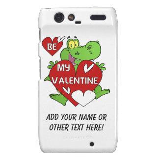 Crocodile Be My Valentine Motorola Droid RAZR Case