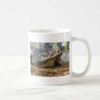 crocodile classic white coffee mug